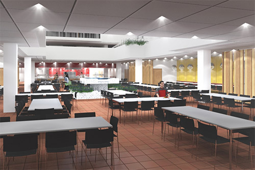 All Walls & Ceilings - Dining Halls